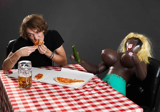 Cena con Bambola - foto stock