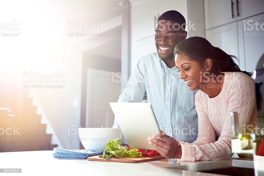 Dinner's sorted thanks to digital technology stock photo