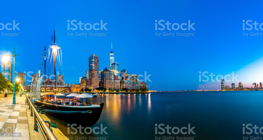 Dinning in the Hudson River stock photo
