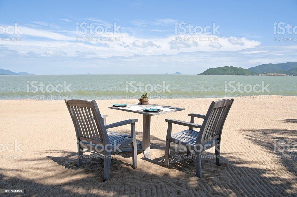 Dinning On The Beach In Nha Trang, Vietnam royalty-free stock photo