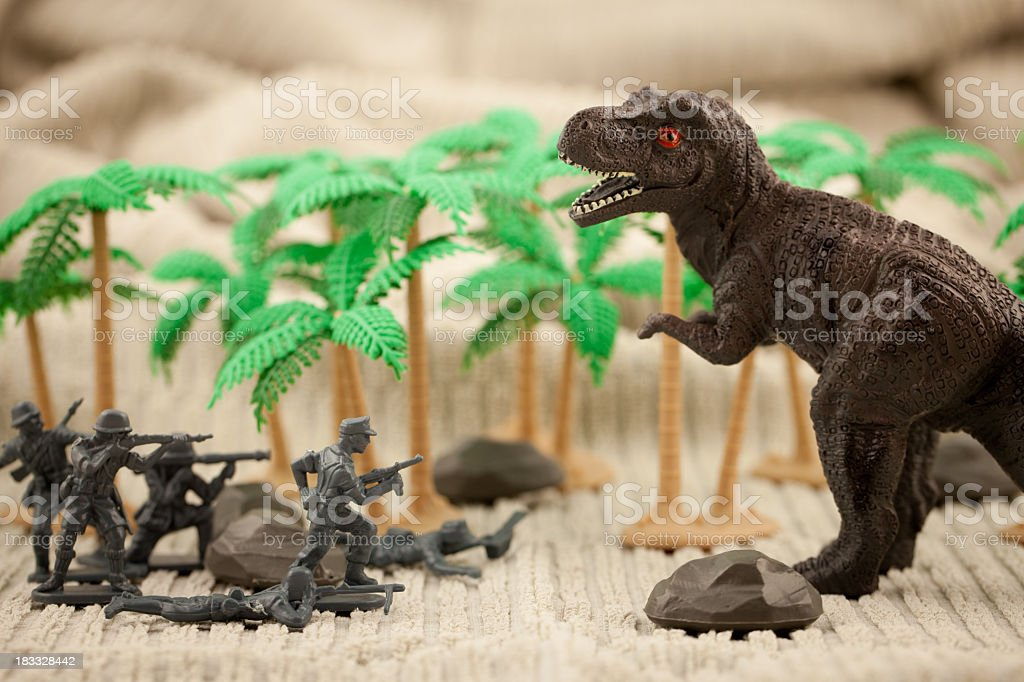 Dino attack stock photo
