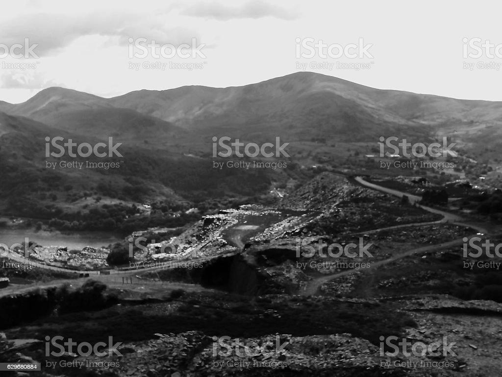 Dinorwic Quarry Gwynedd North Wales stock photo