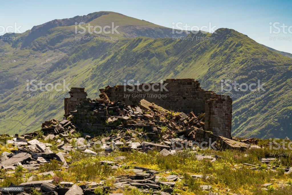 Dinorwic Quarry, Wales, UK stock photo