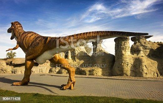 istock Dinosaur and Hoodoo Rock Formations 806471428