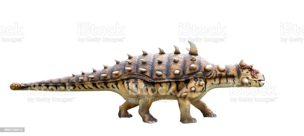 Modelo de dinossauro ankylosaurus e monstro - foto de acervo