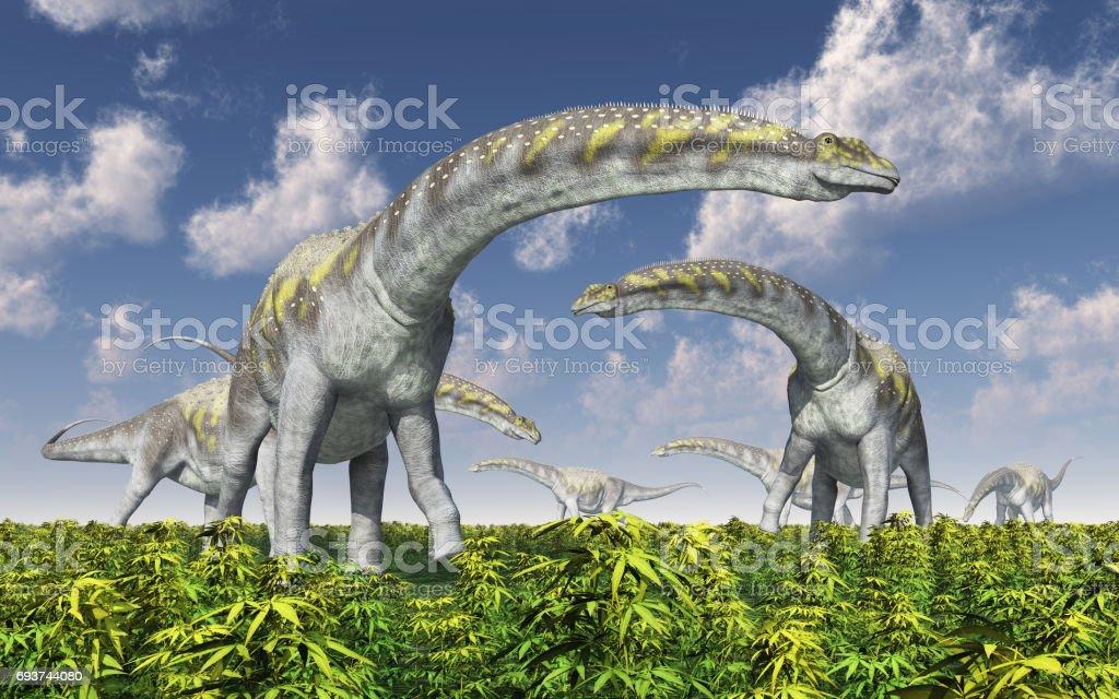 Dinosaur Argentinosaurus - foto de stock