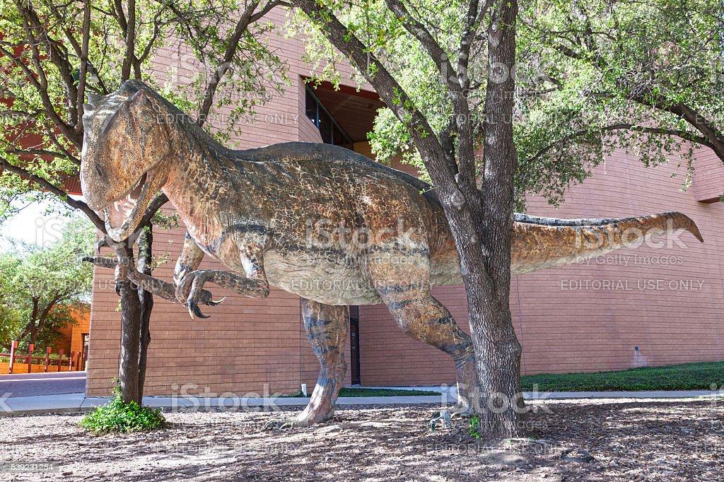 Dinosaurios en el Museo de Ciencias e Historia de Fort Worth foto de stock libre de derechos