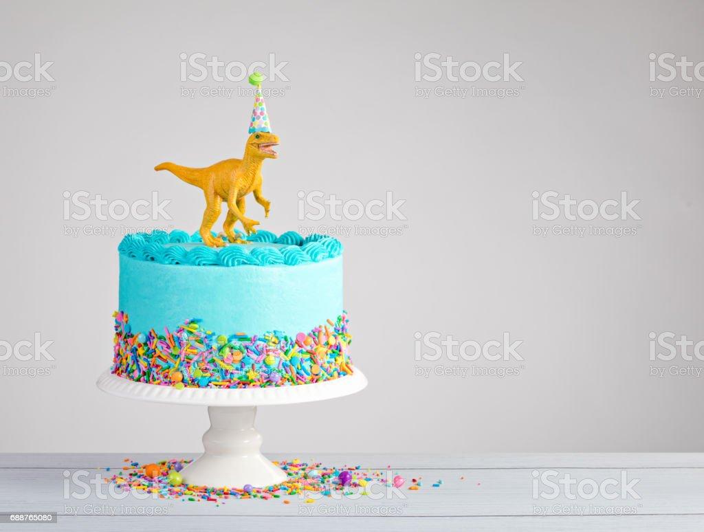 Dinosaur Birthday Cake stock photo