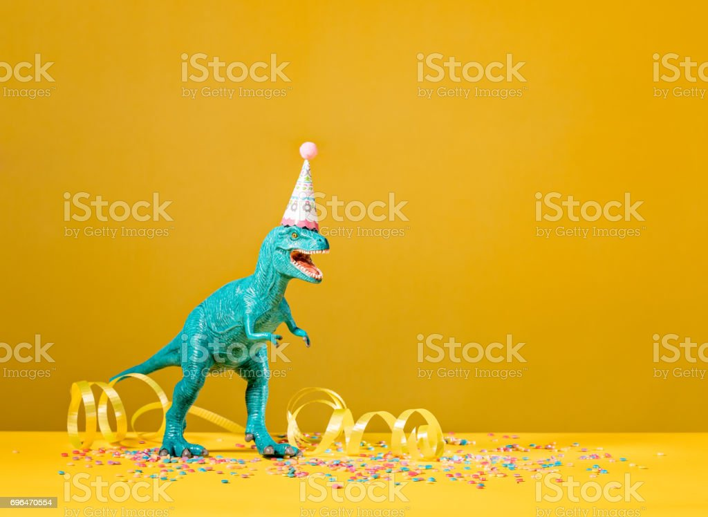 Dinosaur Birthday Party stock photo