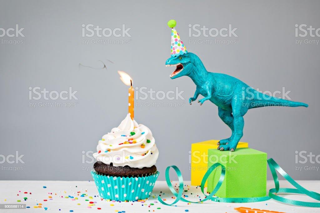Dinosaur fête d'anniversaire - Photo