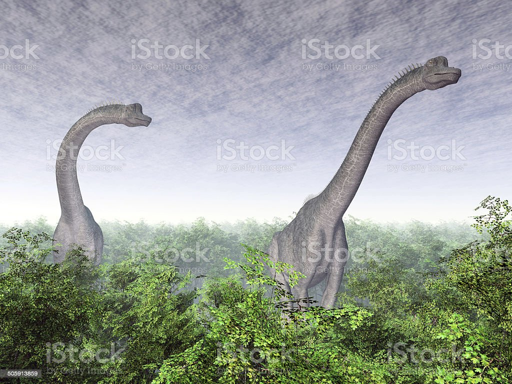 Dinosaur Brachiosaurus stock photo