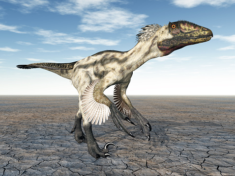 Dinosaur Deinonychus Stock Photo - Download Image Now
