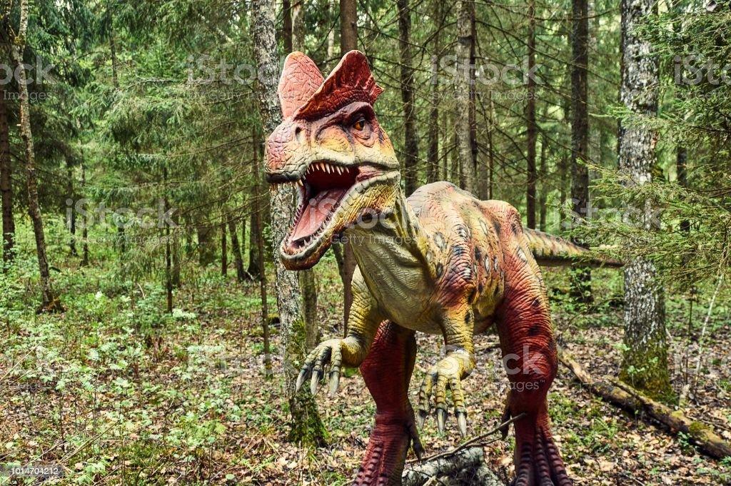 dinosaur dilophosaurus SONY DSC Ancient Stock Photo