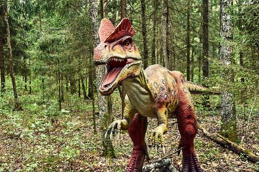 Dinosaur Dilophosaurus Stock Photo - Download Image Now