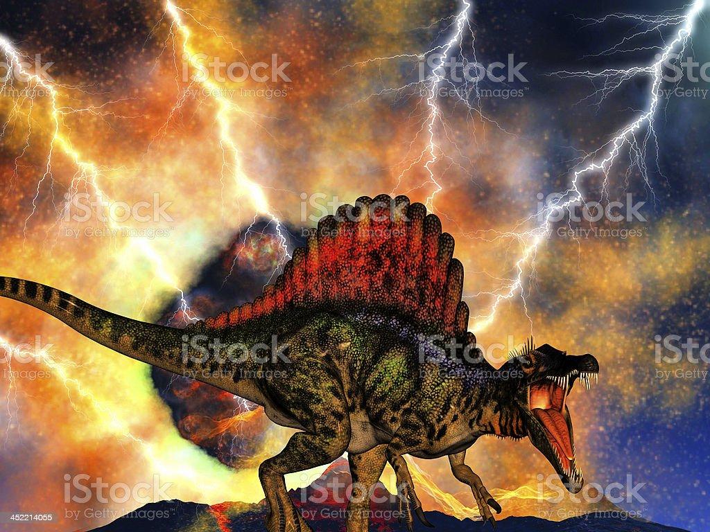 Dinosaur doomsday royalty-free stock photo