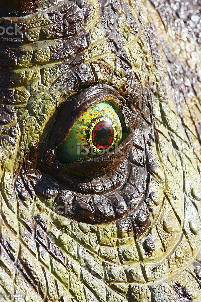 Dinosaur eye royalty-free stock photo