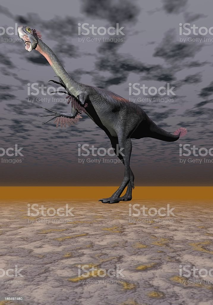 dinosaur gigantoraptor royalty-free stock photo