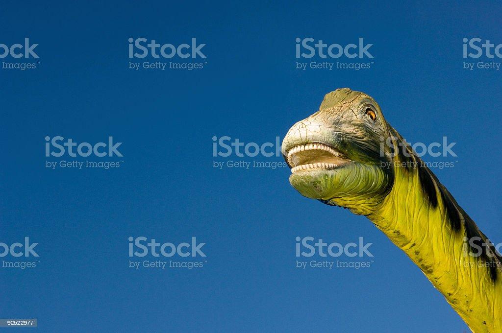 dinosaur head detail royalty-free stock photo