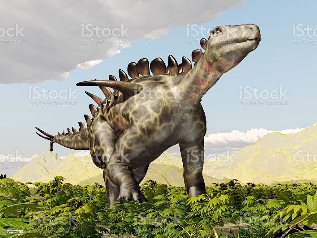 Dinosaur Huayangosaurus stock photo