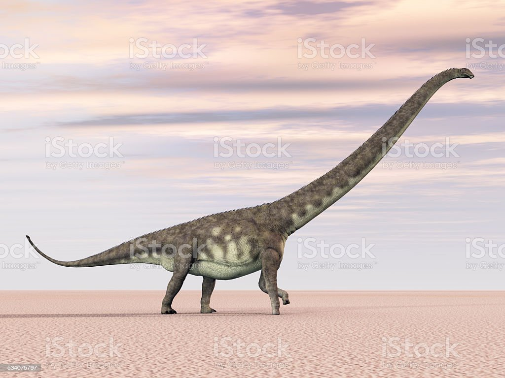 Dinosaur Mamenchisaurus stock photo
