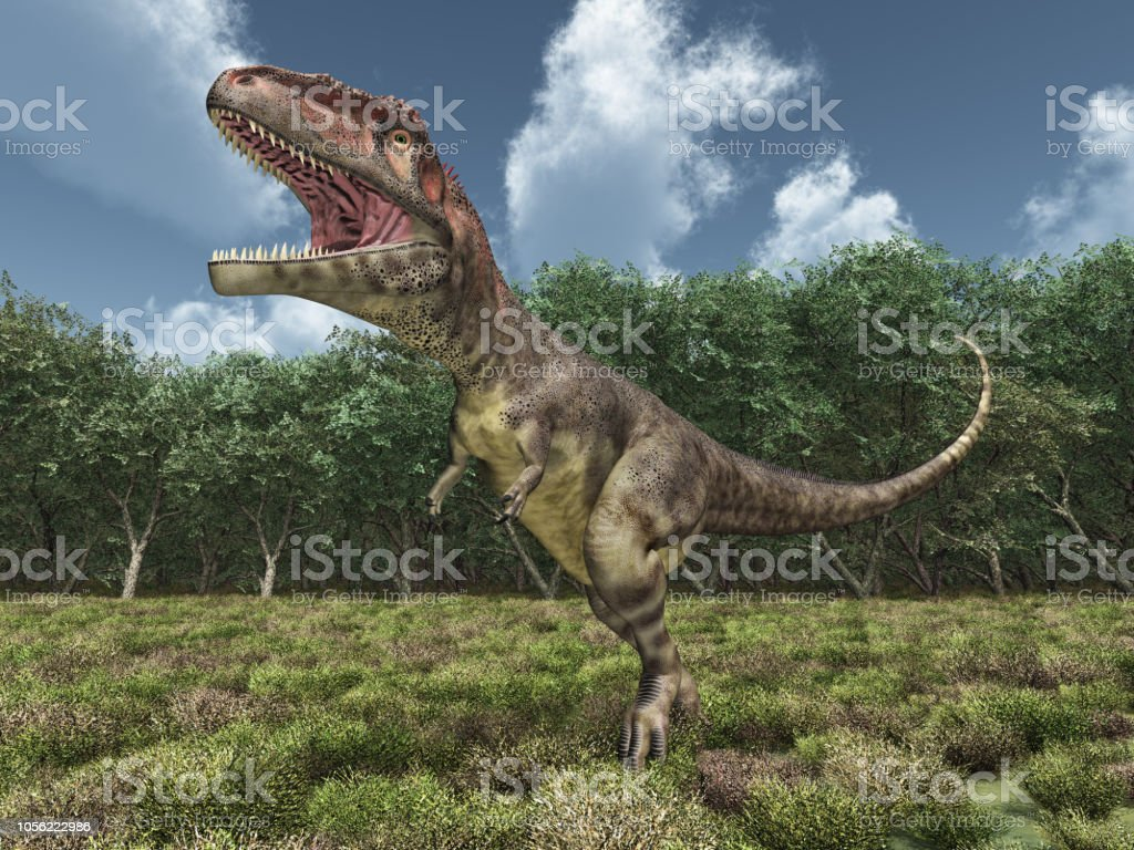 Dinosaur Mapusaurus stock photo