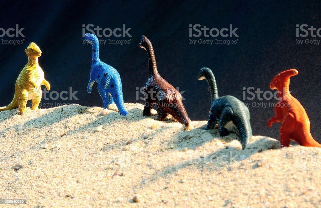 dinosaur model toys - foto de acervo
