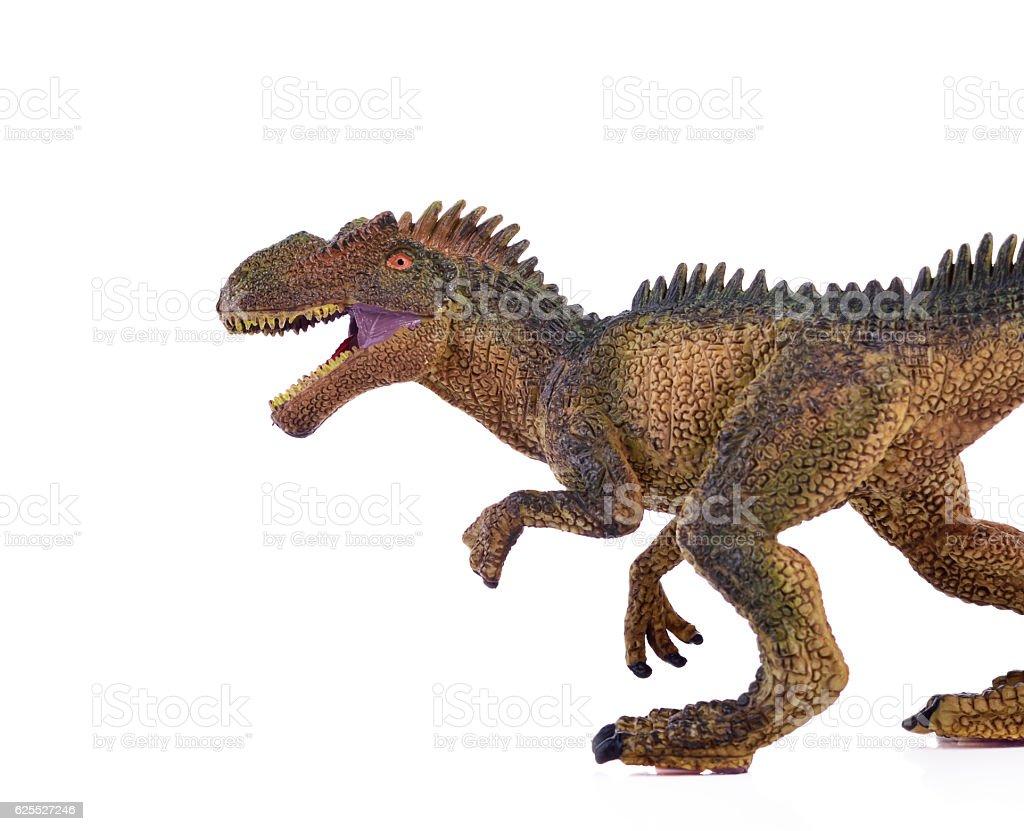 dinosaur on white background vector art illustration