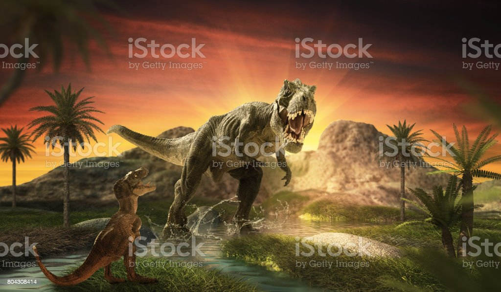 Dinosaur stock photo