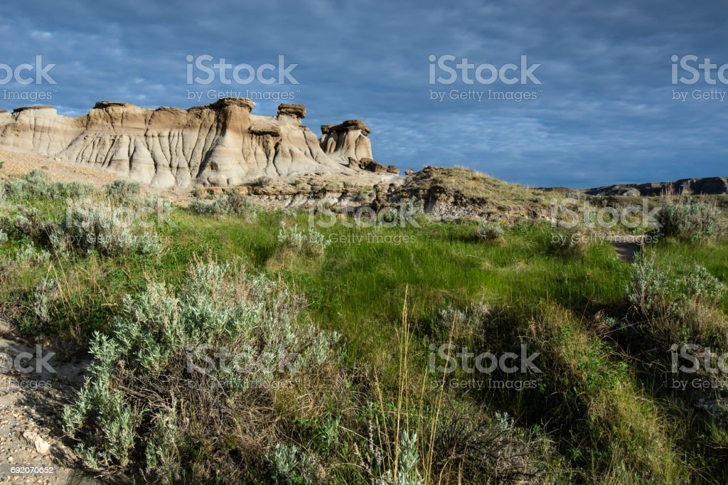 Dinosaur Provincial Park, World Heritage Site stock photo