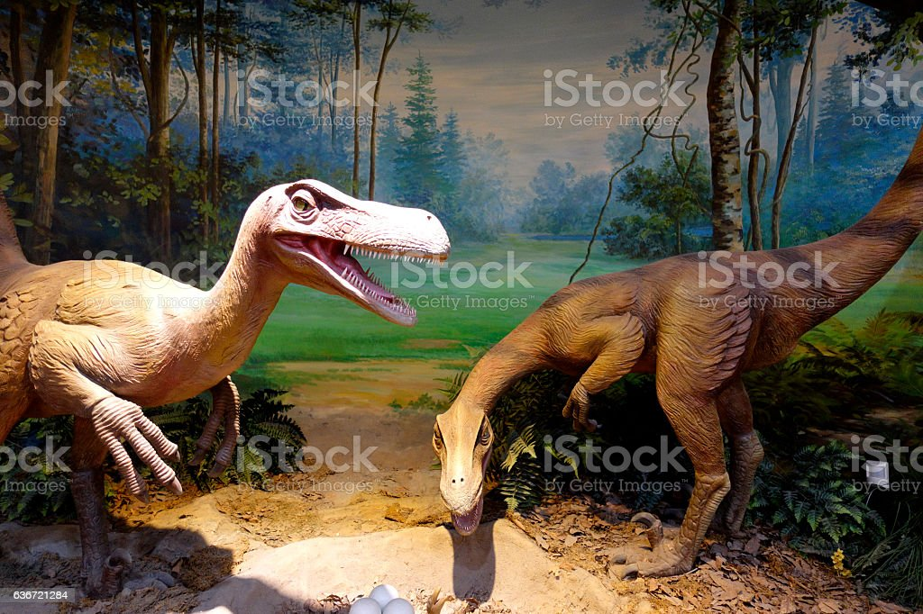 dinosaur sculpture stock photo