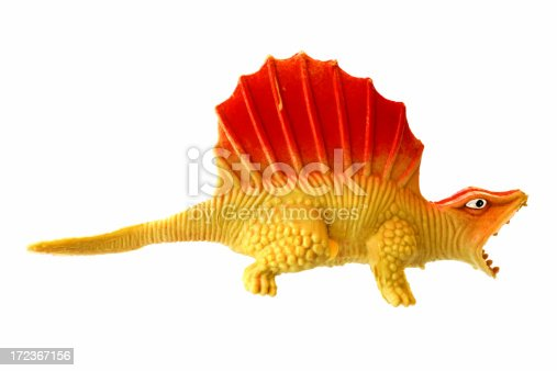 Mass production plastic dinosaur toy (made in China).
