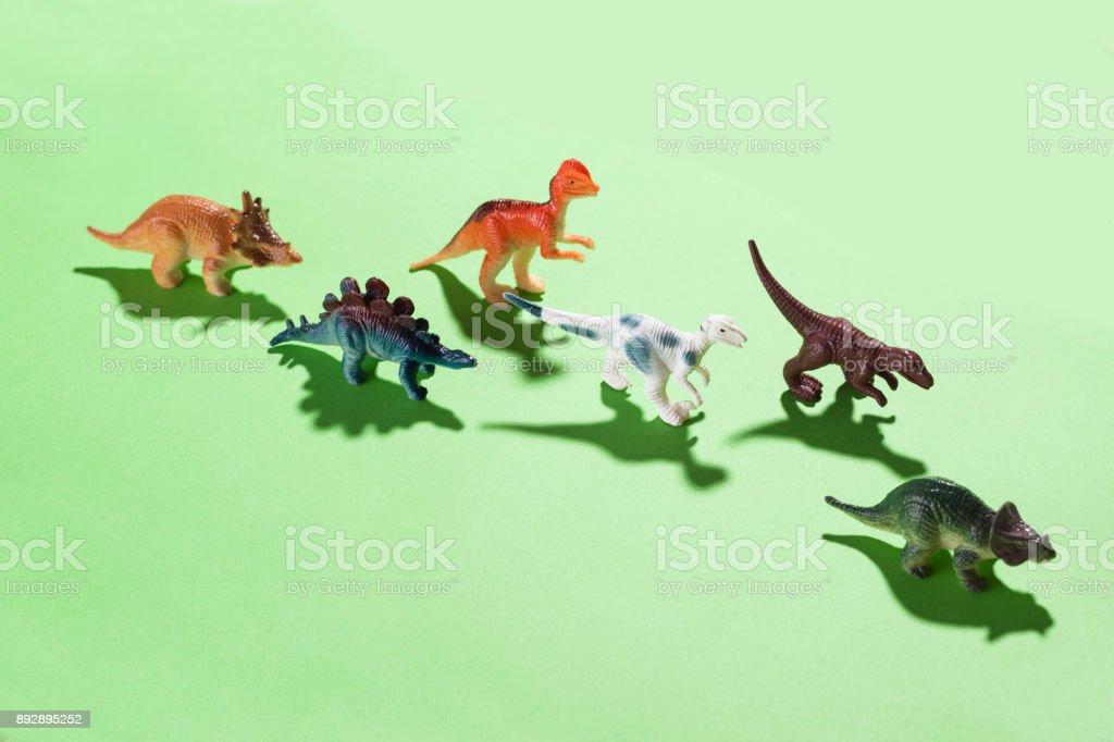 Brinquedos de dinossauro - foto de acervo