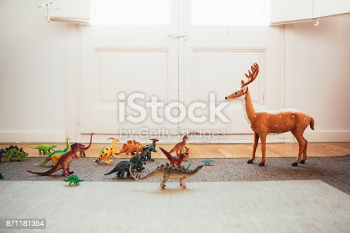 Dinosaurs and reindeer