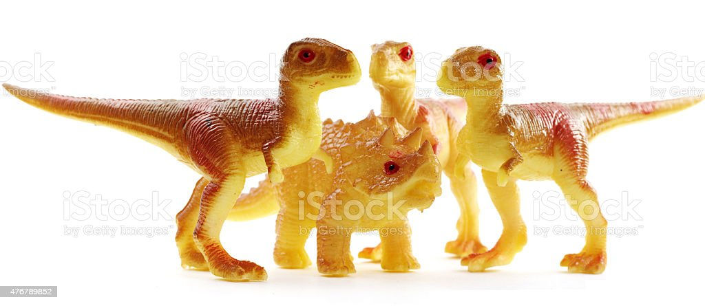 dinosaurs attack predators toys objects stock photo