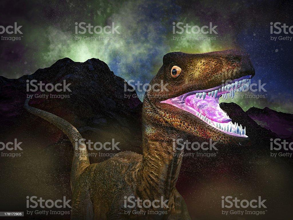 Dinosaur's doomsday stock photo