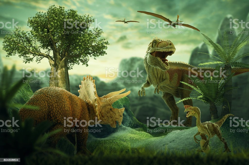 Dinosaurs stock photo