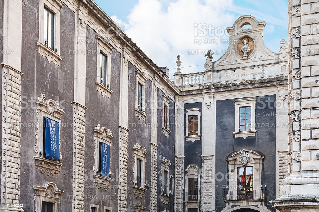 Diocesan Museum in Catania city, Sicily stock photo