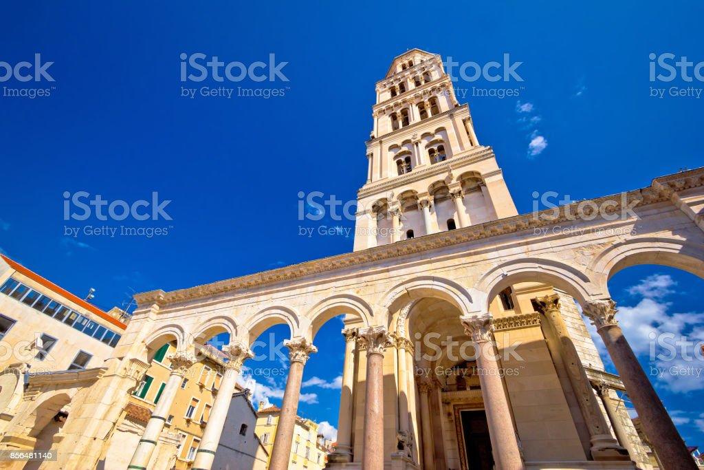 Diocletian palace UNESCO world heritage site in Split, Dalmatia, Croatia stock photo
