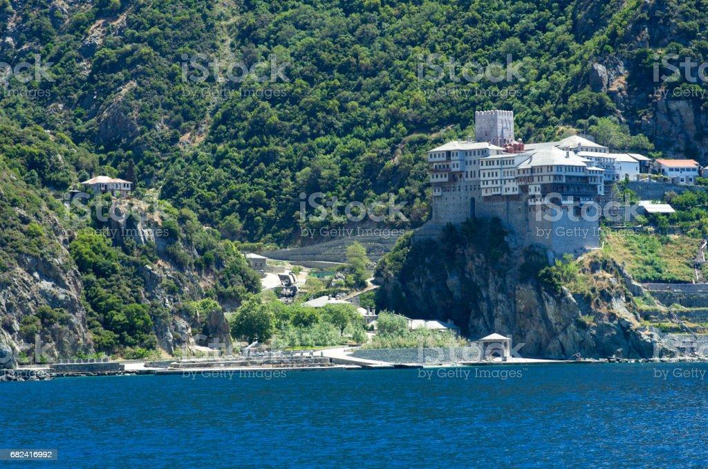 Dionissiou monastery, Athos Peninsula, Mount Athos, Chalkidiki, Greece royalty-free stock photo