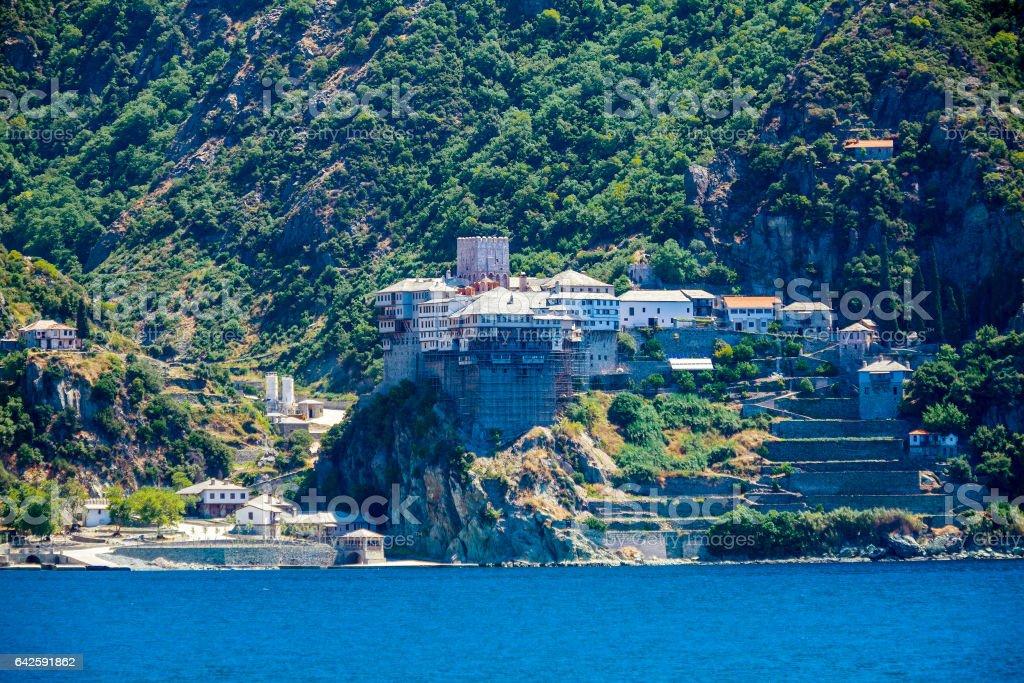 Dionissiou monastery, Mount Athos stock photo