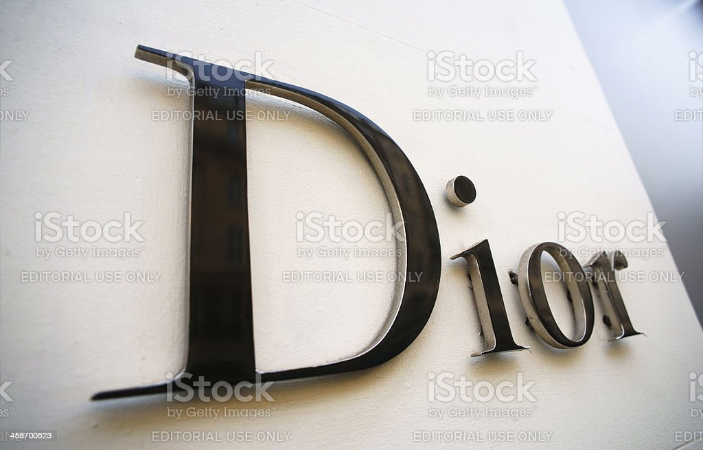 Dior sign stock photo