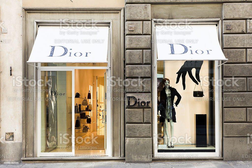 Dior イタリア、フィレンツェでの保存 ロイヤリティフリーストックフォト