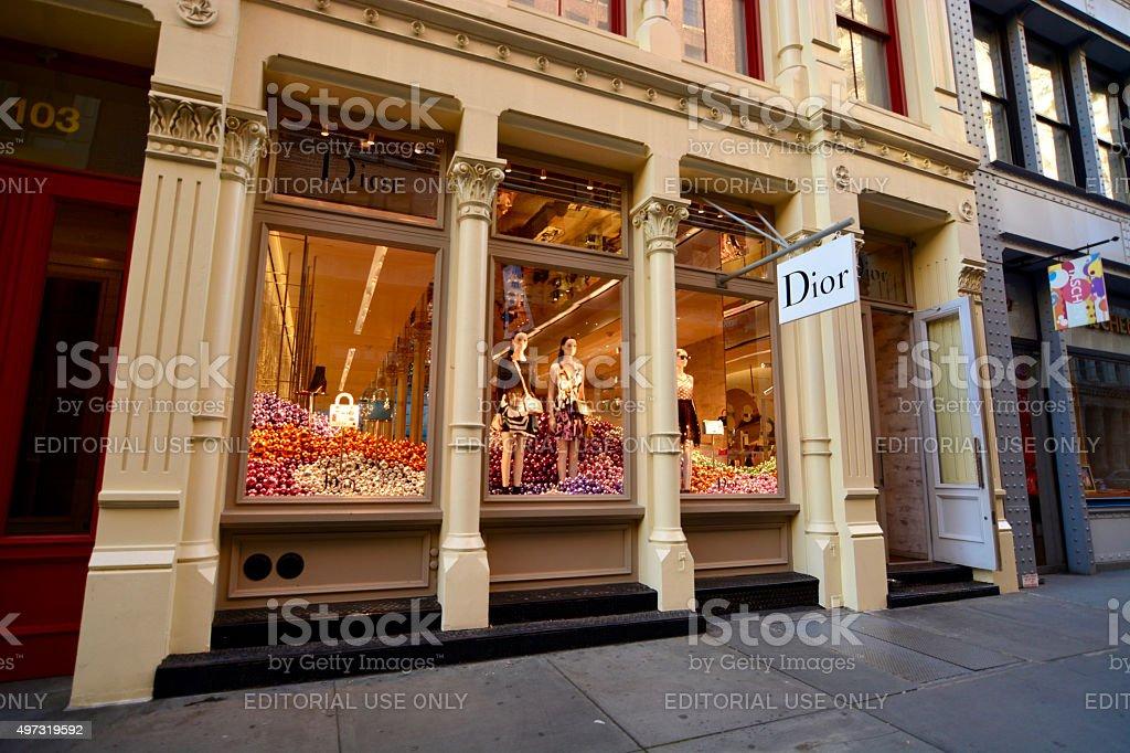 Dior store in Soho Manhattan New York stock photo