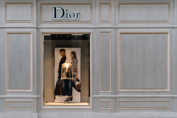 Dior Store in Wallnerstrasse, a street in historical city center stock photo