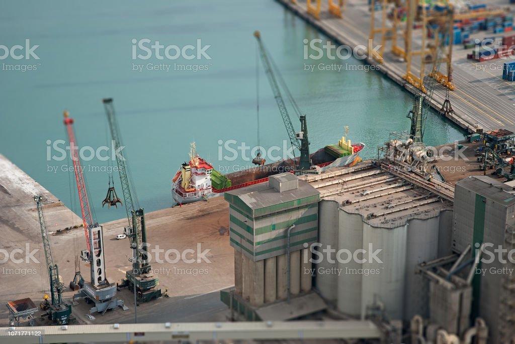 Diorma de un-puerto – Foto