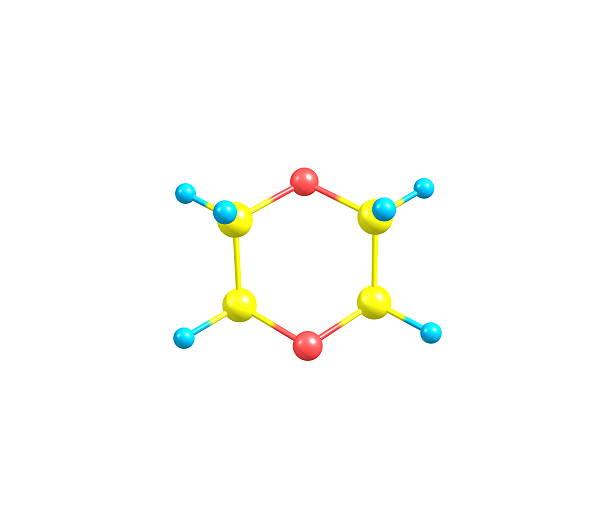 Dioxano Molécula Aislado En Blanco Foto De Stock Y Más Banco