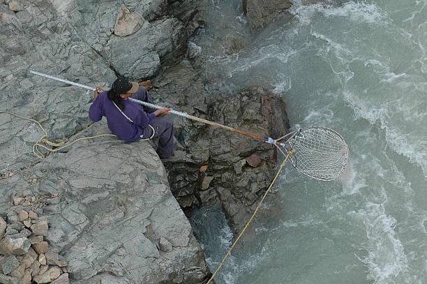 Dip Net Fishing stock photo