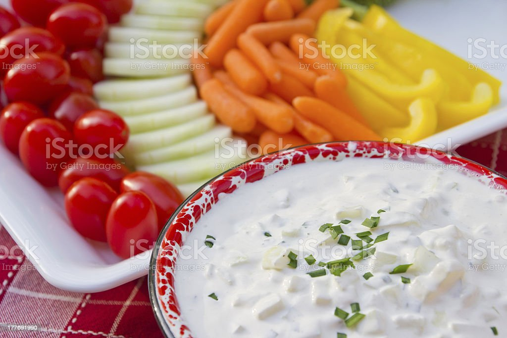 Dip with Vegetables royalty-free stock photo