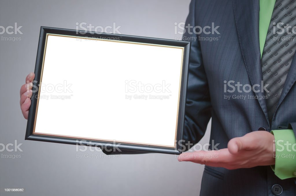 Diploma or certificate mockup. stock photo