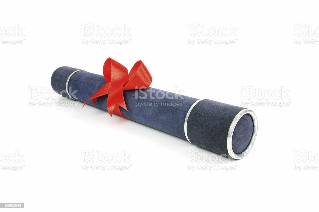 Diploma tube royalty-free stock photo